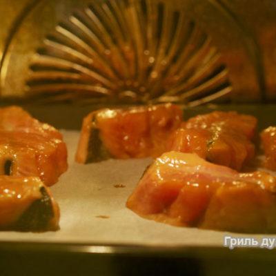 стейк из семги в духовке