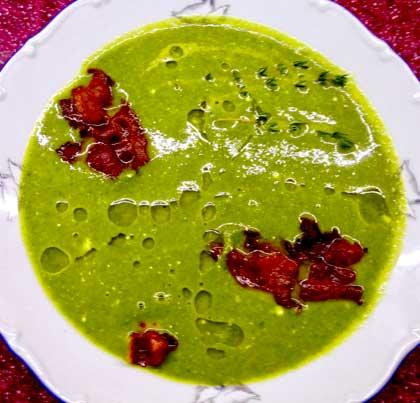 Суп пюре из шпината.
