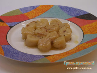 Жареные морские гребешки (с вином).