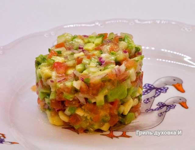 Салат с авокадо простой и вкусный рецепт.