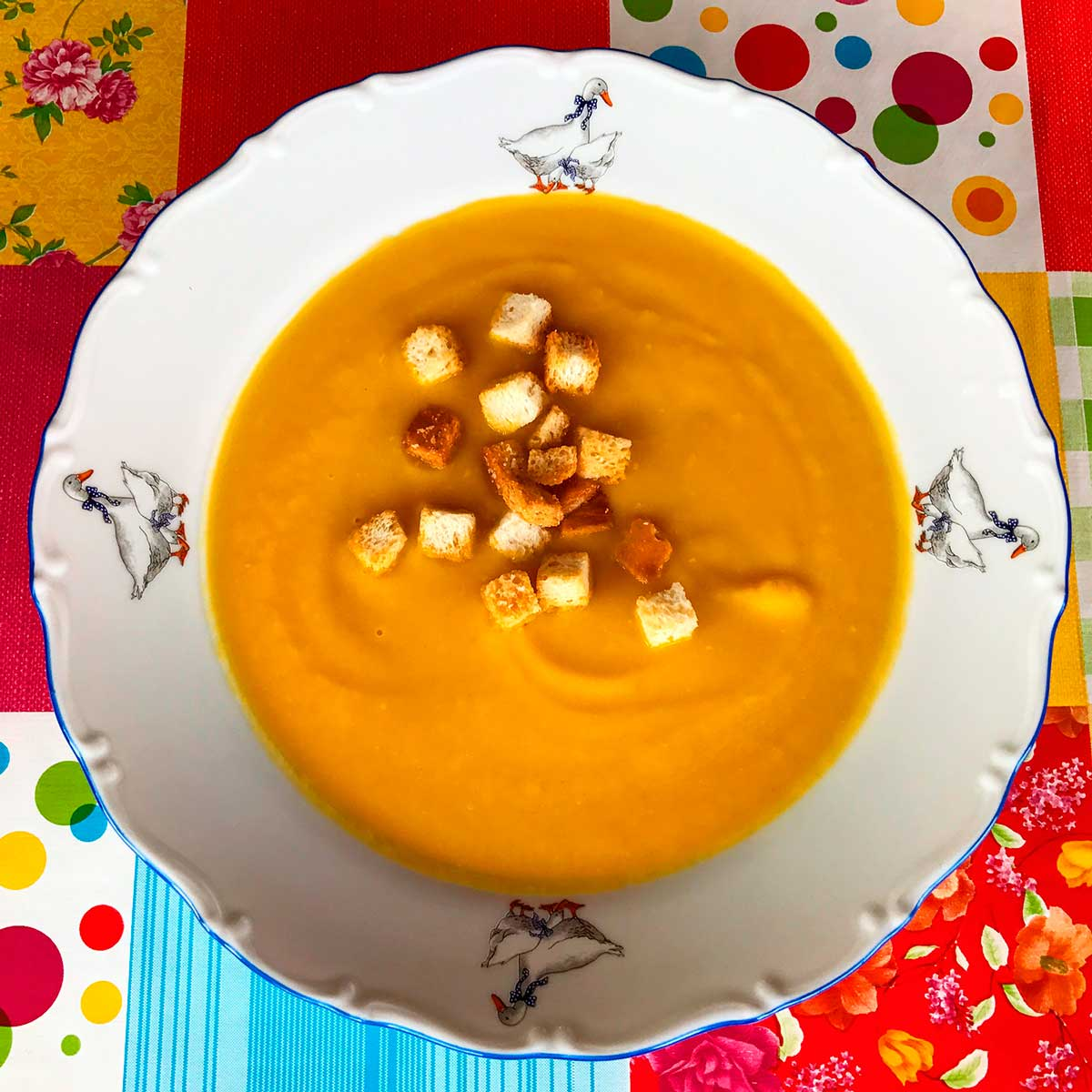 Морковный суп пюре.