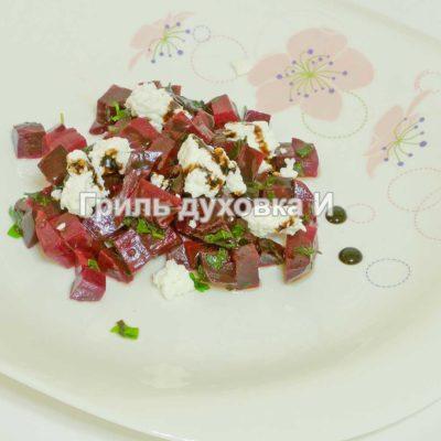 салат из свеклы и творога