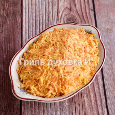морковь с сыром и чесноком