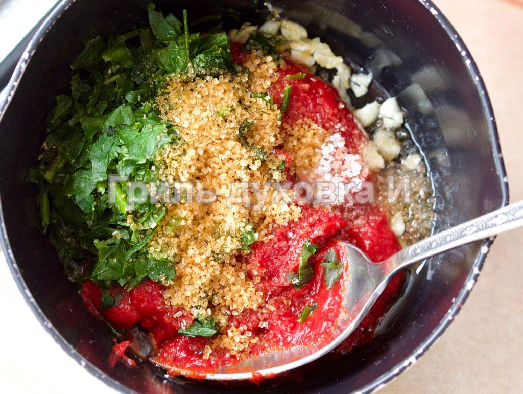 Соус из томатной пасты за 5 минут.