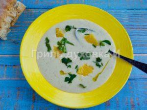 суп из печеного чеснока