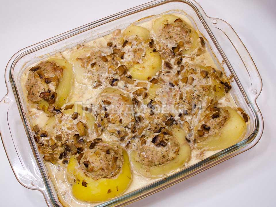 Фаршированная картошка в духовке.